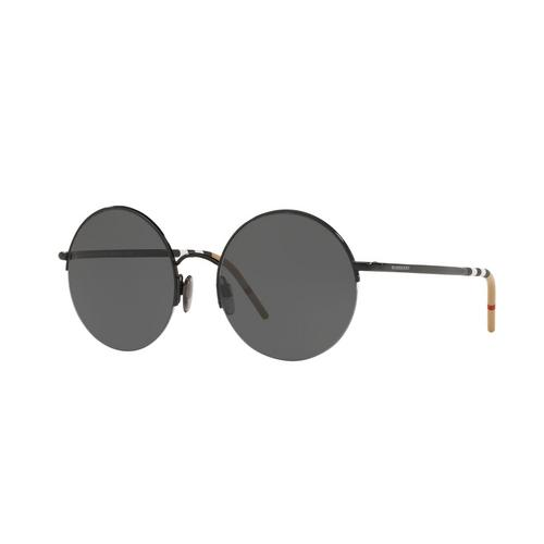 BURBERRY Black Grey Female Sunglasses