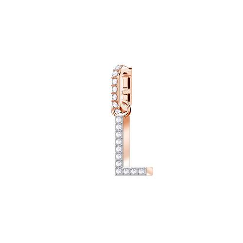 SWAROVSKI Remix Collection Charm L, White, Rose gold plating