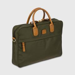 BRIC'S X-Travel Medium Briefcase (Green) 0.50 kg