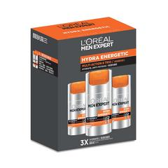L'ORÉAL PARIS - HYDRA ENERGETIC - MULTI-ACTION 8 TRIO - MULTI-ACTION 8 50ml x3 - MEN SKINCARE - SET