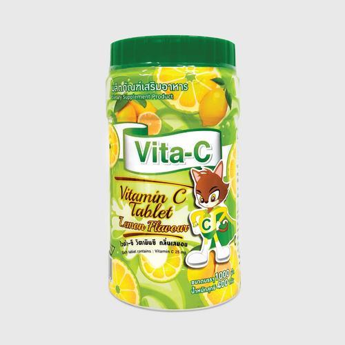 Vita - C lemon flavor (维生素C保健食品,柠檬味,一片维C含量为25毫克) 400 g.
