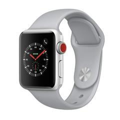 APPLE WATCH Series3 GPS+Cellular 38 mm Silver Aluminium Case with Fog Sport Band