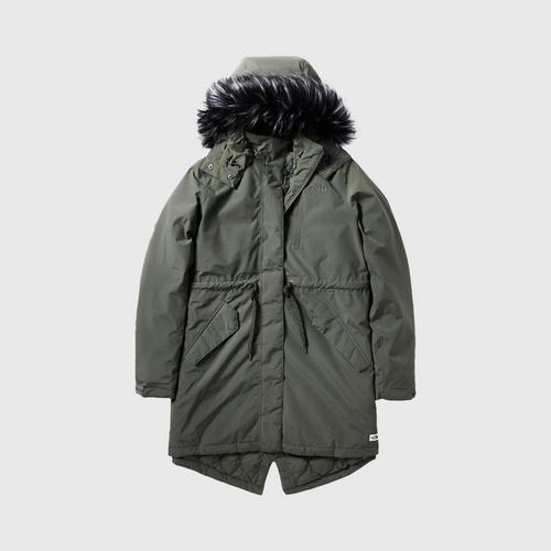 THE NORTH FACE W SNOW DOWN PARKA-AP NEW TAUPE GREEN