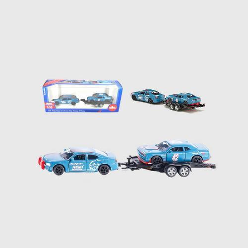 SIKU Dodge Charger With Dodge Challenger SRT Racing