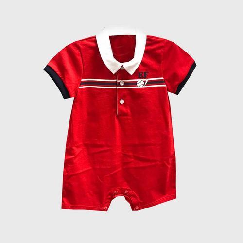 ENFANT Jumsuit Solid strip - Red - Size 70 - RED