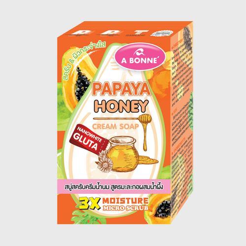 A BONNE' PAPAYA HONEY CREAM SOAP ( 90 G.)