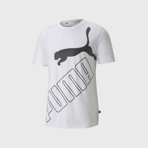 PUMA Big Logo Tee - White Size S UK