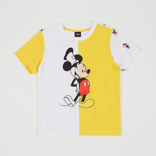 Disney Boy T-Shirt Mickey White/yellow-S