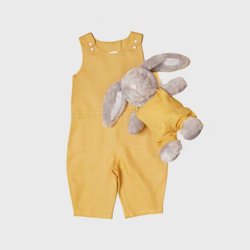 TINY MOON Ashley Jumpsuit with Matching Doll 2-3Y - Mustard