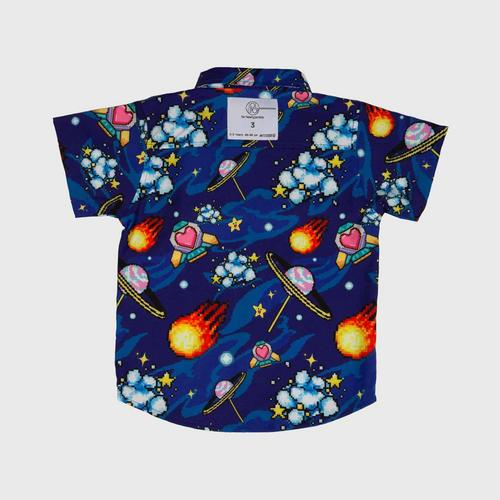 LOLLIPOP Insert Coin Join In Collection 16-Bit Galaxy Mini Shirt Size 2-3Y