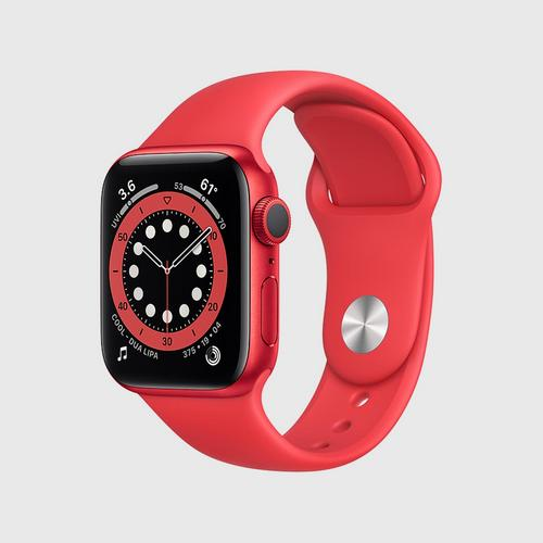 Apple Watch Series 6 (GPS) (PRODUCT) Red Aluminum Case  with (PRODUCT) Red Sport Band(40mm)