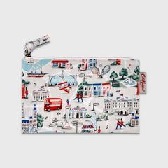 Cath Kidston Zip Purse Small London Map Stone