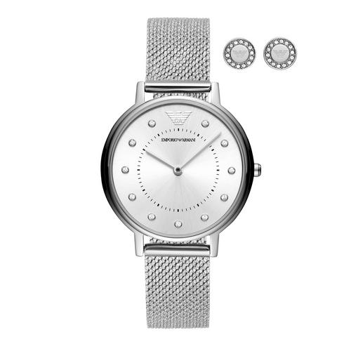 EMPORIO ARMANI Kappa Analog Silver Stainless Steel Watch