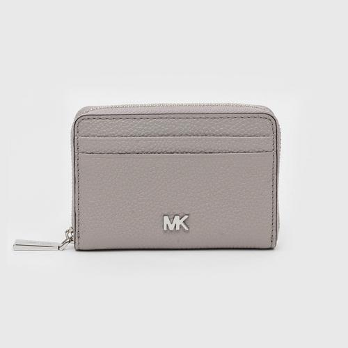 MICHAEL KORS Money Pieces Small Pebbled Leather Wallet - Pearl Gray