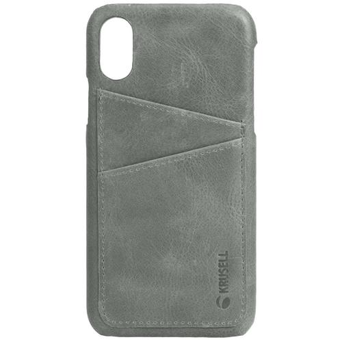Krusell Sunne 2 Card Cover Apple iPhone X/Xs Vintage Grey