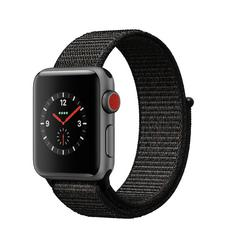 APPLE WATCH Series3 GPS+Cellular 38 mm Space Gray Aluminium Case with Black Sport Loop