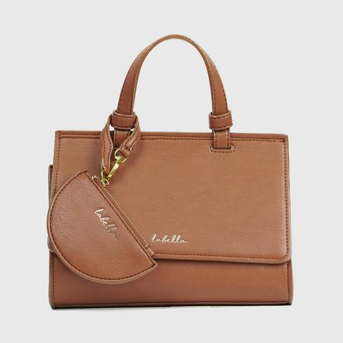LABELLA ORGUS HANDBAG - BROWN