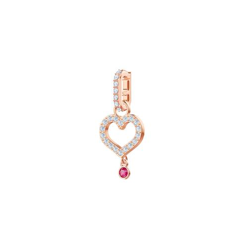 SWAROVSKI Remix Collection Heart Charm, White, Rose-gold tone plated