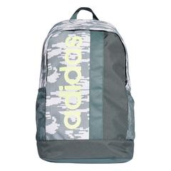 ADIDAS LINEAR CORE GRAPHIC BACKPACK -RAW WHITE / LEGEND IVY / HI-RES YELLOW