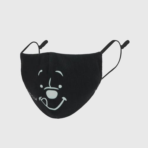 DISNEY Fabric Mask P IS POOH YUMMY Black