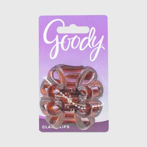 GOODY Lily Petal Claw Clip, Brown