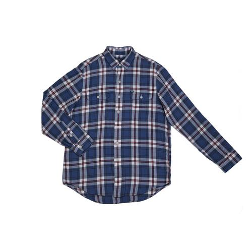 POLO RALPH LAUREN Classic Fit Plaid Workshirt - BLUE L