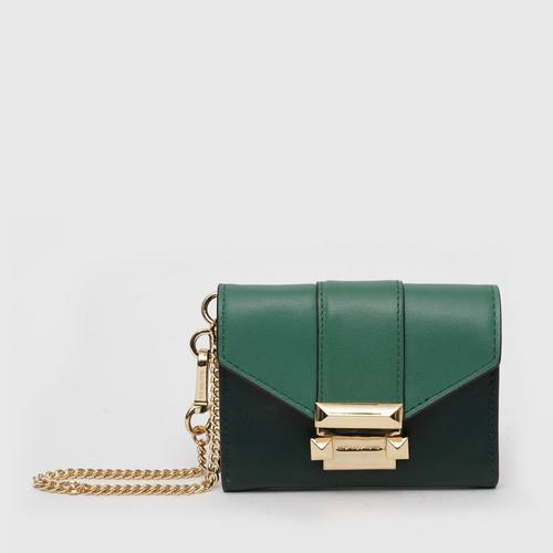 MICHAEL KORS Whitney Small Leather Chain Wallet - RCNG Green
