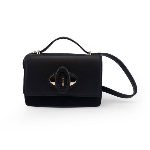 JACOB PU SHOULDER BAG(BLACK)