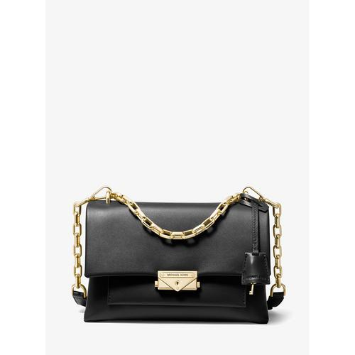 MICHAEL KORS Cece Medium Leather Shoulder Bag - BLACK