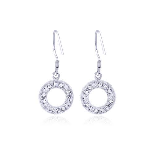 12VICTORY Circle Crystal Earrings