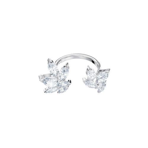 SWAROVSKI Louison Open Ring, White, Rhodium plating-Size 55