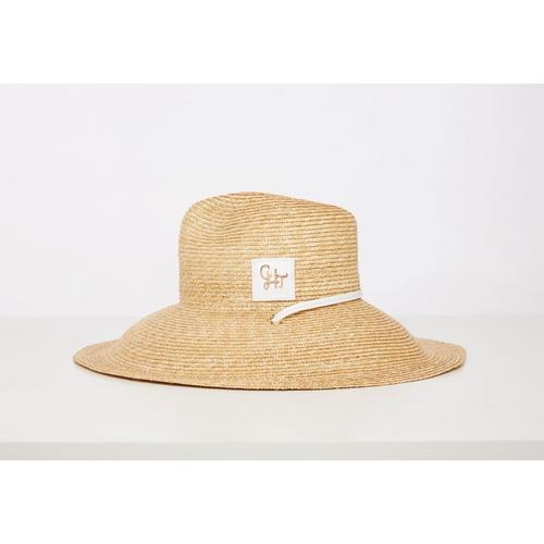 CHATO STUDIO Straw Hat White  (Head Round) 58  x (Brim) 13 cm.
