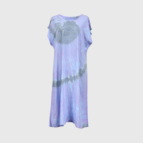 WONGDUENMATYOM - Tie-dyed sleeves dress, shell pattern FREE SIZE