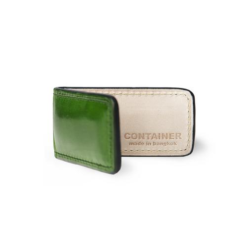 CONTAINER Magnet Money Clip Green