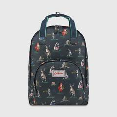 Cath Kidston Multi Pocket Backpack Animal Band Midnight Blue