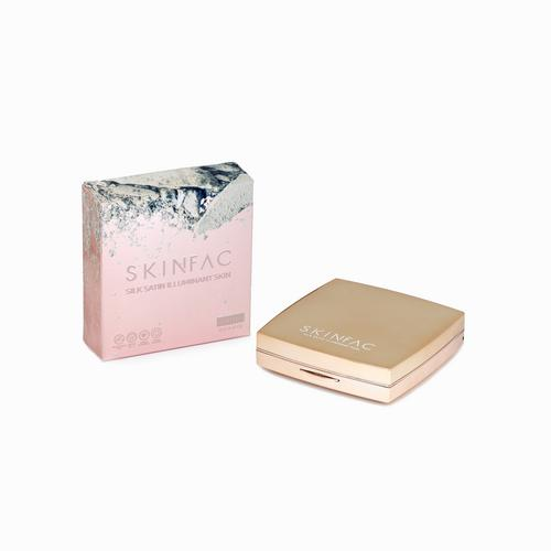 SKINFAC SILK SATIN : TWO WAY化妆饼粉-拿铁颜色12ML