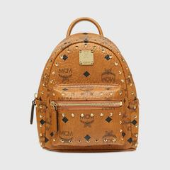 MCM Stark Bebe Boo Backpack in Studded Outline Visetos X Mini