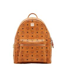 MCM BACKPACK SMALL MEDIUM COGNAC - COGNAC
