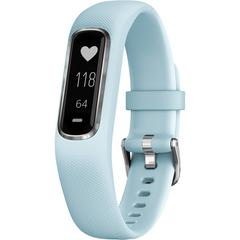 GARMIN Vívosmart® 4 Silver with Azure Blue Band (Regular)