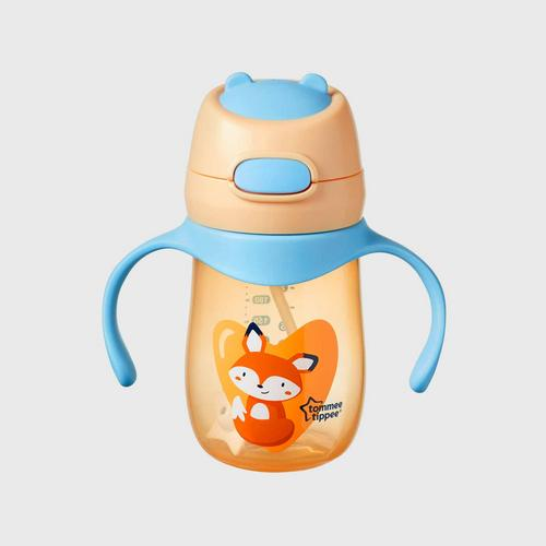 TOMMEE TIPPEE  Weighted Straw 2 Handle Cup - orange