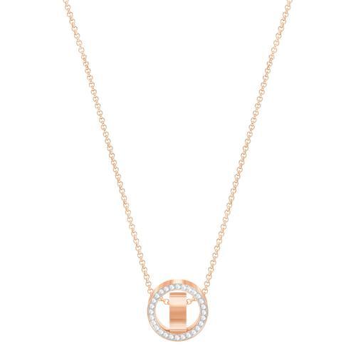 SWAROVSKI Hollow Pendant, White, Rose-gold tone plated
