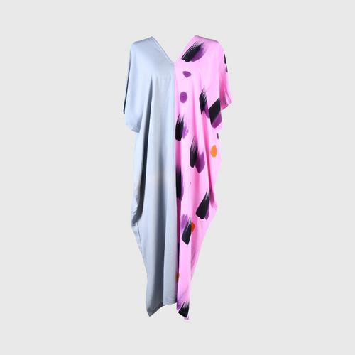 AL-HAMEEN BATIK  Casual wear batik (Hill tribe style) -  Pink/gray
