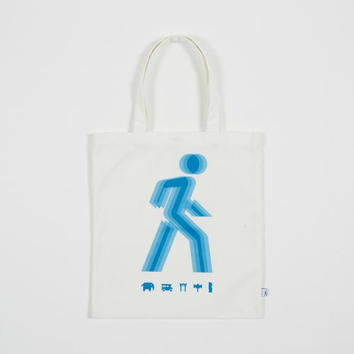 Mahanakhon SkyWalk Blue Iconic Tote Bag