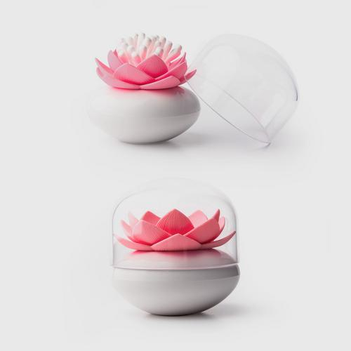QUALY Lotus Cotton Bud - White/Pink