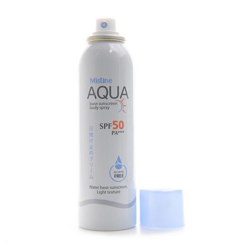 MISTINE Aqua Base Sunscreen Body Spray Spf 50 Pa+++  100 Ml