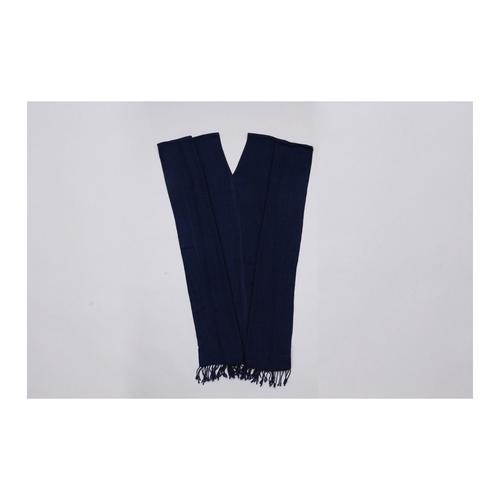 THONGSIRI INDIGO BLUE V-Neck Long Dress Indigo Plain Pattern - Free Size