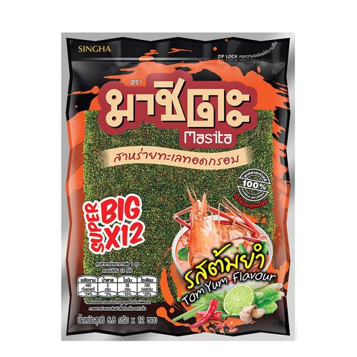 Masita Fried Super Big Seaweed 81.6 g - Tom Yam Flavor