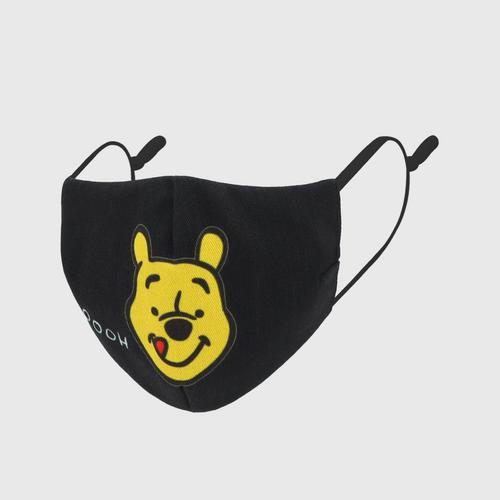 DISNEY Fabric Mask POOH  YUMMY Black