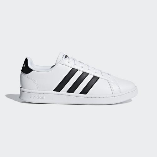 ADIDAS GRAND COURT SHOES WHITE - SIZE 6.5