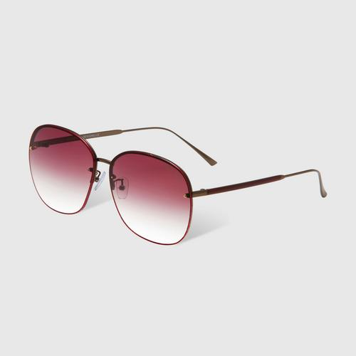 VEDI VERO VE940/BGD Gradient Burgurndy Oversized Sunglasses